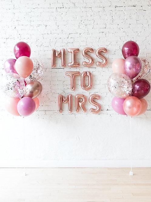 MISS TO MRS Balloon Set - Berry Mix