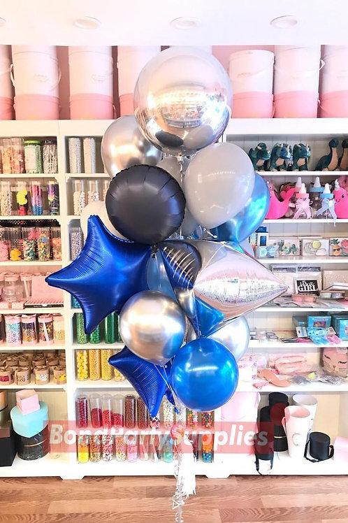 Classic Lux Bouquet  - Silver/Blue