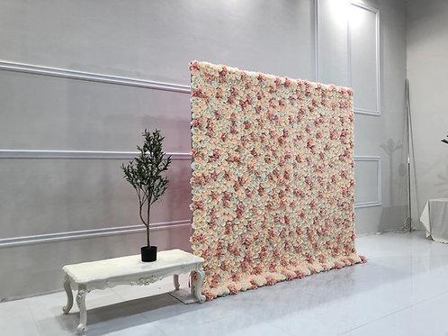 Blush  Flower Wall - 8x8