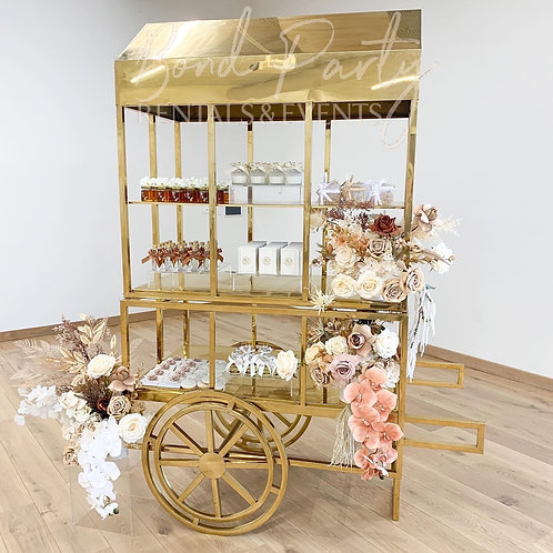 Gloss Tier Metal Cart (Gold)