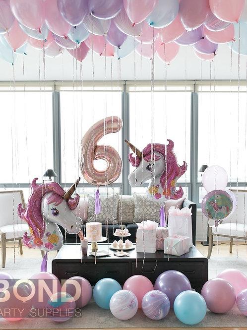 Unicorn Birthday Surprise Decor -M