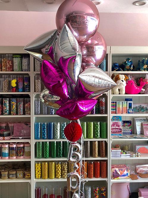 Mylar Lux - Standart  - Silver/RoseGold/Pink