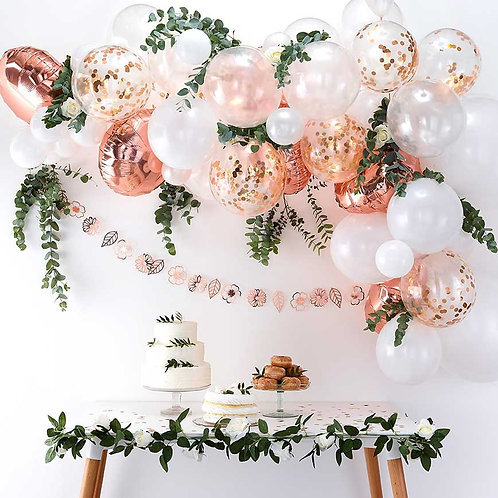 Rose-Gold Mini Garland w Greenery