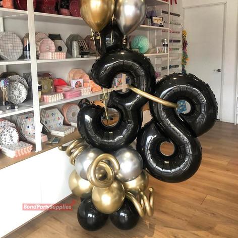 Gold & Black Balloon Scultpure