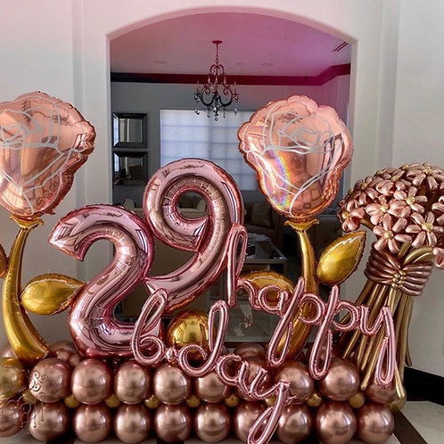 """Paramount"" - Rose Gold Balloon Sculpture"