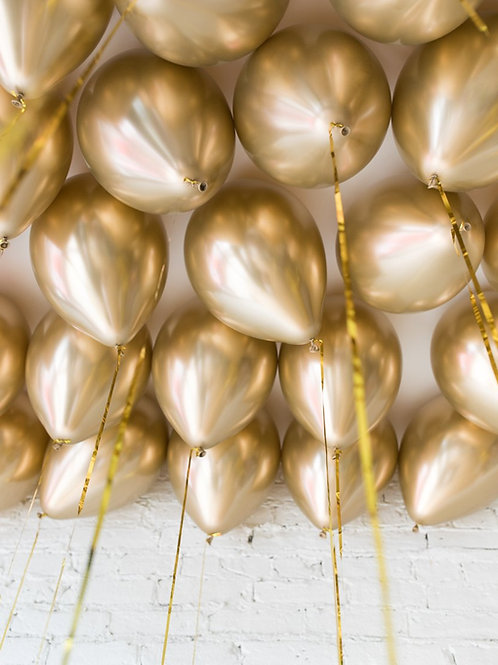 Helium Ceiling Balloons - (Gold)