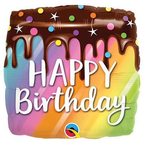 Rainbow Drip Birthday