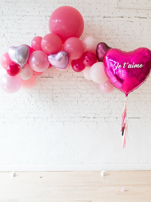 Love Theme Mini Garland + Personalized Balloon