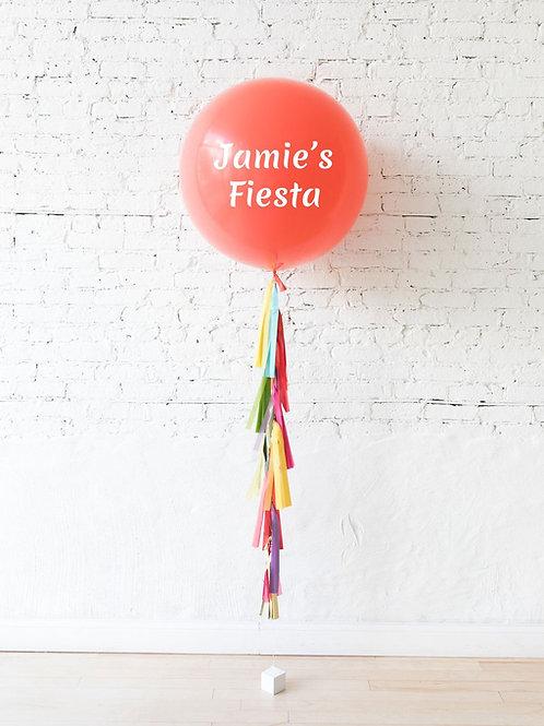 Personilized Jumbo Gift Balloon - Light Orange