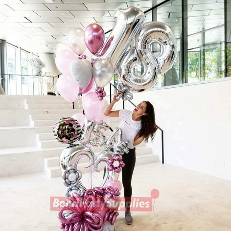 Girly Girl Balloon Scultpure