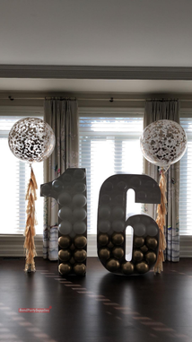Number Balloon Mosaics with Tassels