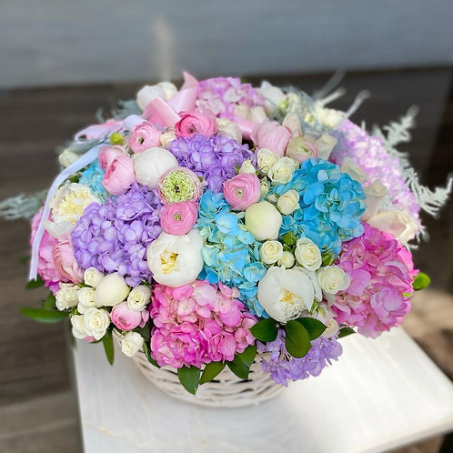 Pastel Dream Flower Basket