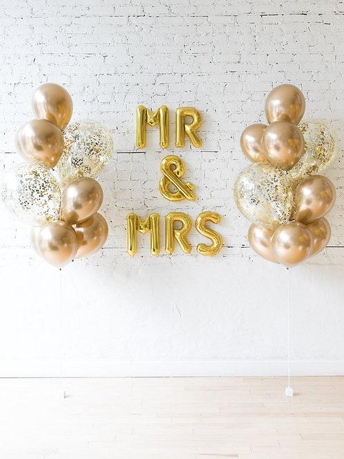 Mr & Mrs Balloon Set - 24K
