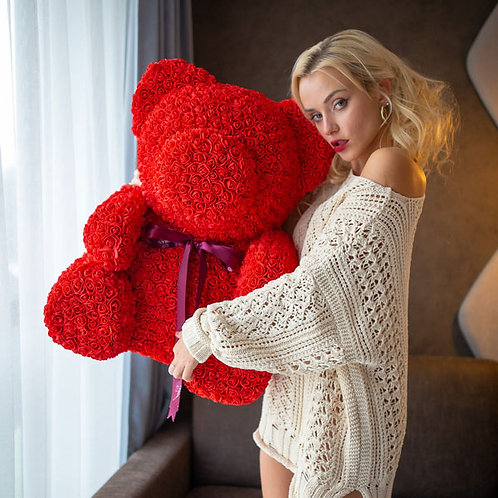 Red Rose Bear - XL