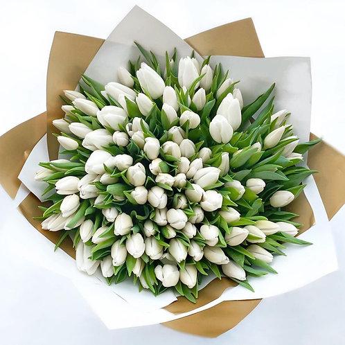White Tulips - European Style