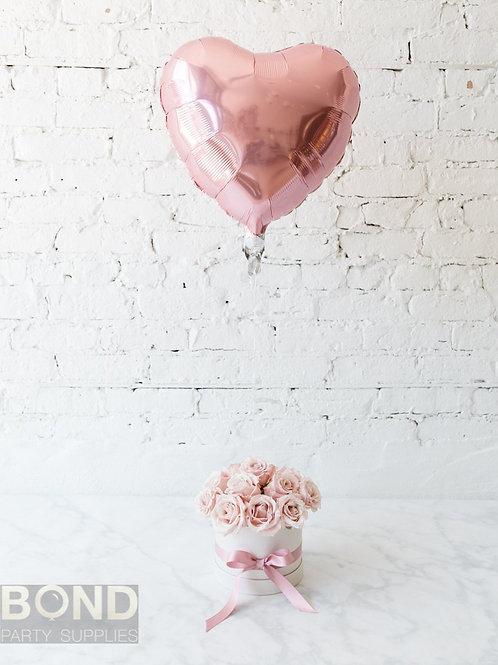 Rose Arrangement + Heart Balloon