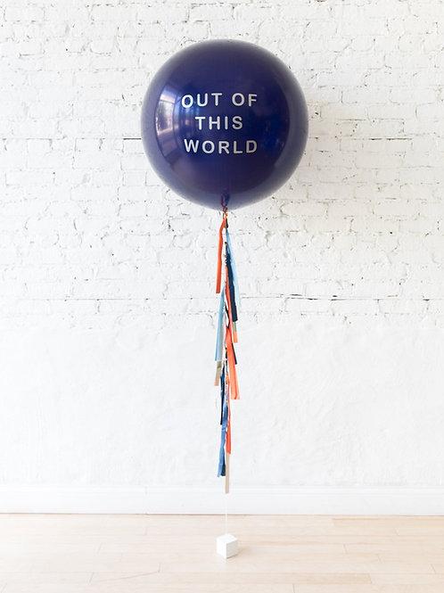 Personilized Jumbo Gift Balloon - Navy Blue