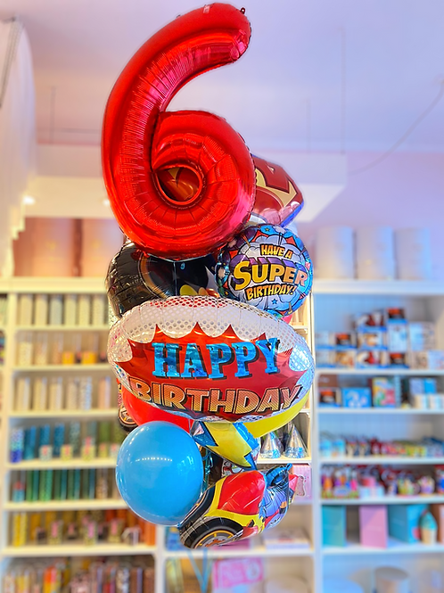 SuperHero - Birthday Balloon Bouquet