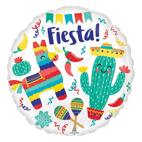 Fiesta Round Balloon Foil