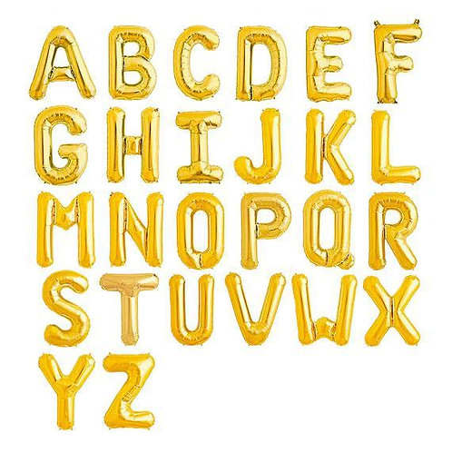 Gold Letter Balloons (Large Size)