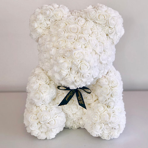 Flower Bear (M) - White