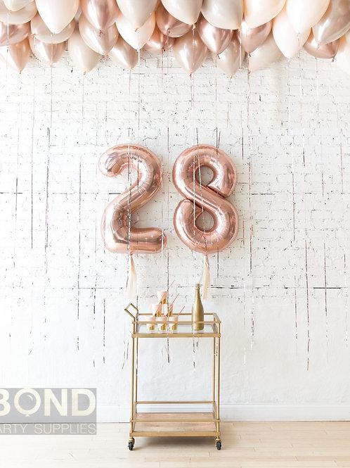 Glamour & Tan Birthday Balloon Decor