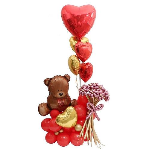 Deluxe Teddy Balloon Sculpture