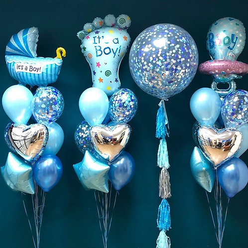 Its A Boy Balloon Set (4)