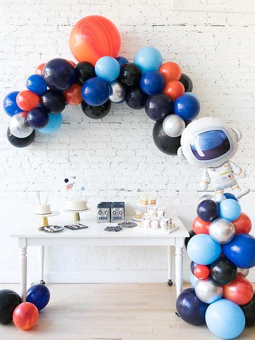 Space Theme Mini Balloon Garland + Coloumn