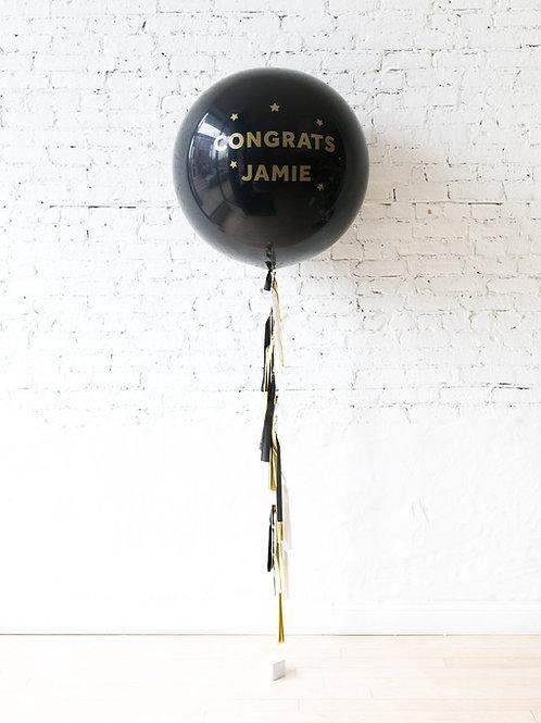 Personilized Jumbo Gift Balloon - Congrats