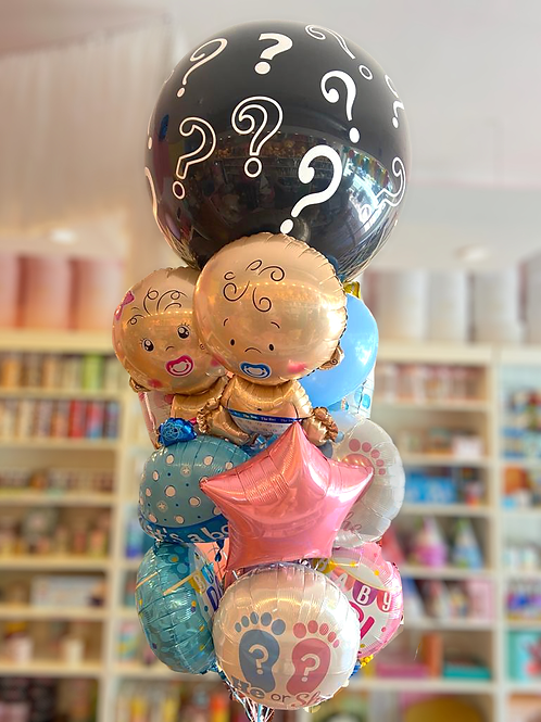Classic Gender Reveal Balloon Bouquet
