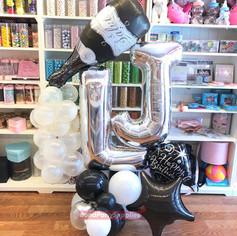 Initials Balloon scultpure