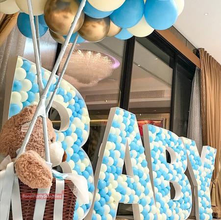 Baby Shower balloon Mosaics