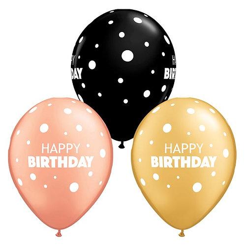 "Dots Birthday Latex (12"")"