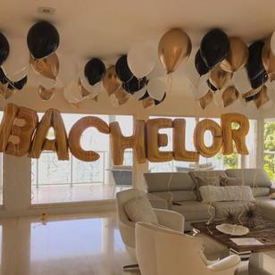 Bachelor Balloon Decoration Miami Hotel.