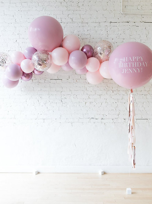 Elegant Palette Mini Garland + Personalized Balloon