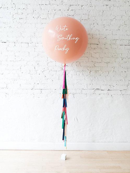 Personilized Jumbo Gift Balloon - Peach
