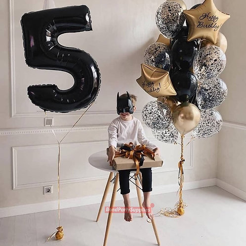 Number Birthday Bouquet - LARGE - Gold/Black