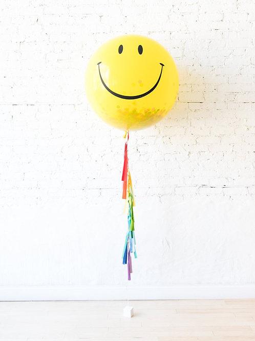 Smily Face Jumbo Surprise Balloon