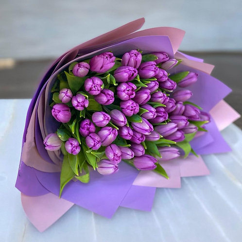 Purple Tulips - European Style