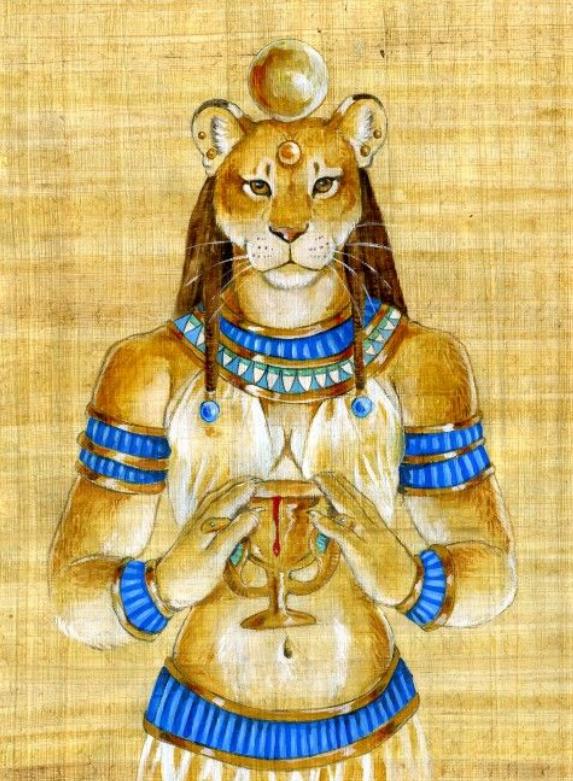 divine feminine, Sekhmet Egyptian Lion Goddess