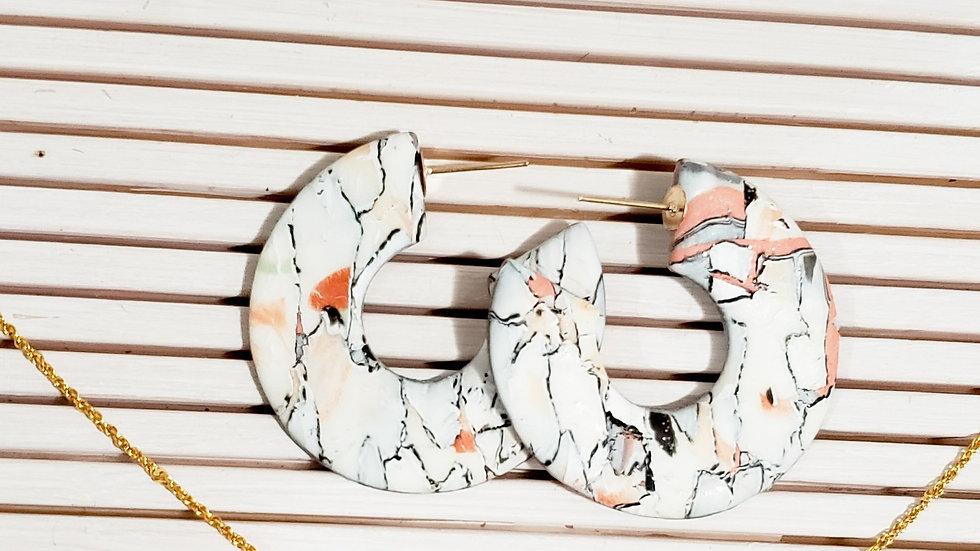 Meli Hoops & Necklace Set