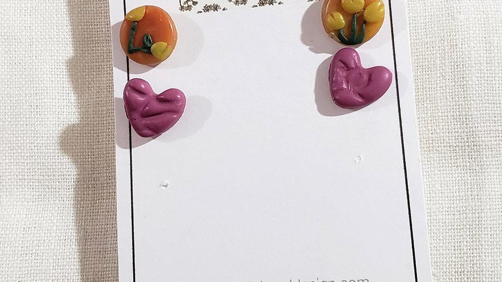 Tulip & Pillow heart set