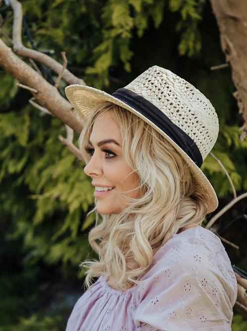 Agnes Straw Fedora Hat