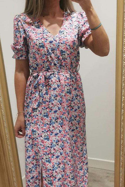 Diana floral midi dress