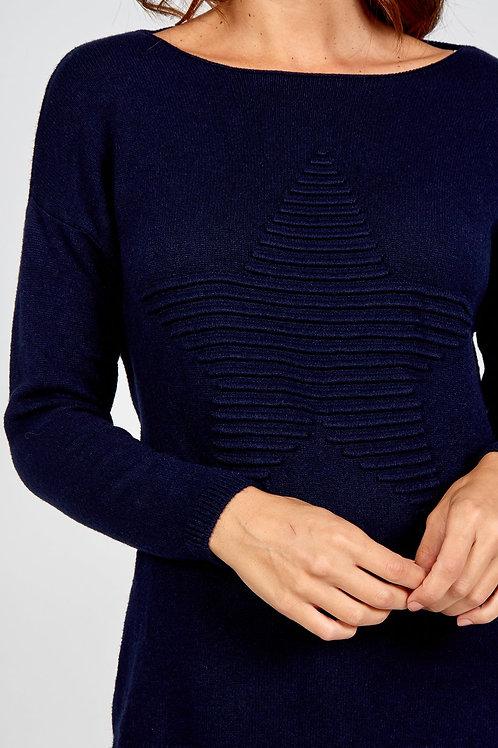 Lori  Star Navy Knit Jumper