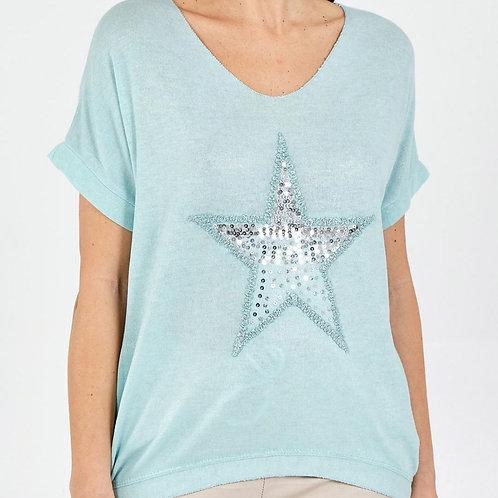 Louisa Star T-shirt in Mint