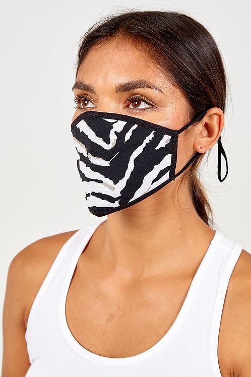 Reversible Zebra Print Mask