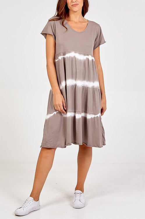 Lucie Tie-Dye Dress in Mocha
