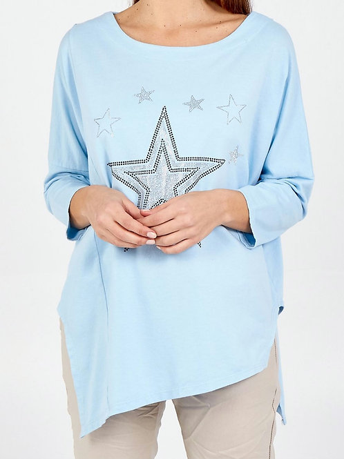 Claire Star Top in Blue